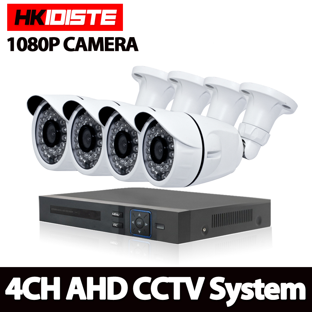 HKIXDISTE 4CH CCTV System 1080P HDMI Output Video Surveillance DVR KIT with 4PCS 3000TVL 2.0P White Home Security Camera SystemHKIXDISTE 4CH CCTV System 1080P HDMI Output Video Surveillance DVR KIT with 4PCS 3000TVL 2.0P White Home Security Camera System