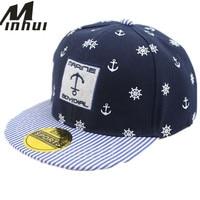 Korean Style Pirates Hip Hop Caps Fashion Snapbacks Baseball Cap Children Sports Outdoor Hat Stripes Brim