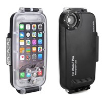 Meikon 40m/130ft Waterproof Underwater Housing Case for iPhone 7 Plus Black Waterproof Underwater Case Cover for iPhone 7 Plus