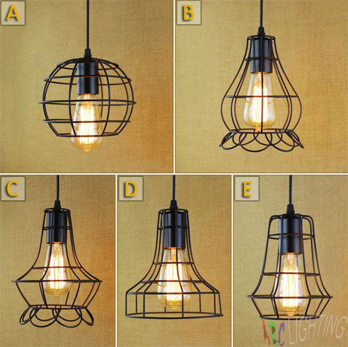 Black Metal Cage Antique Vintage Retro Chandelier Lampshade Ceiling Pendant Lamp eu warehouse iluminacion colgante light shade 9lights e27 diy ceiling spider pendant lamp shade light antique classic adjustable retro chandelier dining home lighting fixture