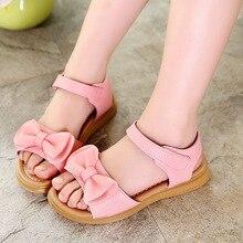 COZULMA Kids Sandals 2019 Summer New Girl Bow Soft Bottom Non-slip Shoes Children Fashion Beach Size 26-37