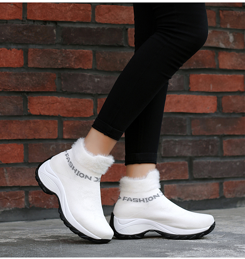 STS BRAND 2019 New Winter Ankle Boots Women Snow Boots Warm Plush Platform Sneakers Breathable Mesh Sneakers Travel Casual Shoes (13)