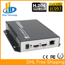 Envío Libre de DHL H.264 HD HDMI Codificador para IPTV, Codificador IP H.264 Servidor IPTV Codificador RTMP/UDP HDMI a IP Audio Video