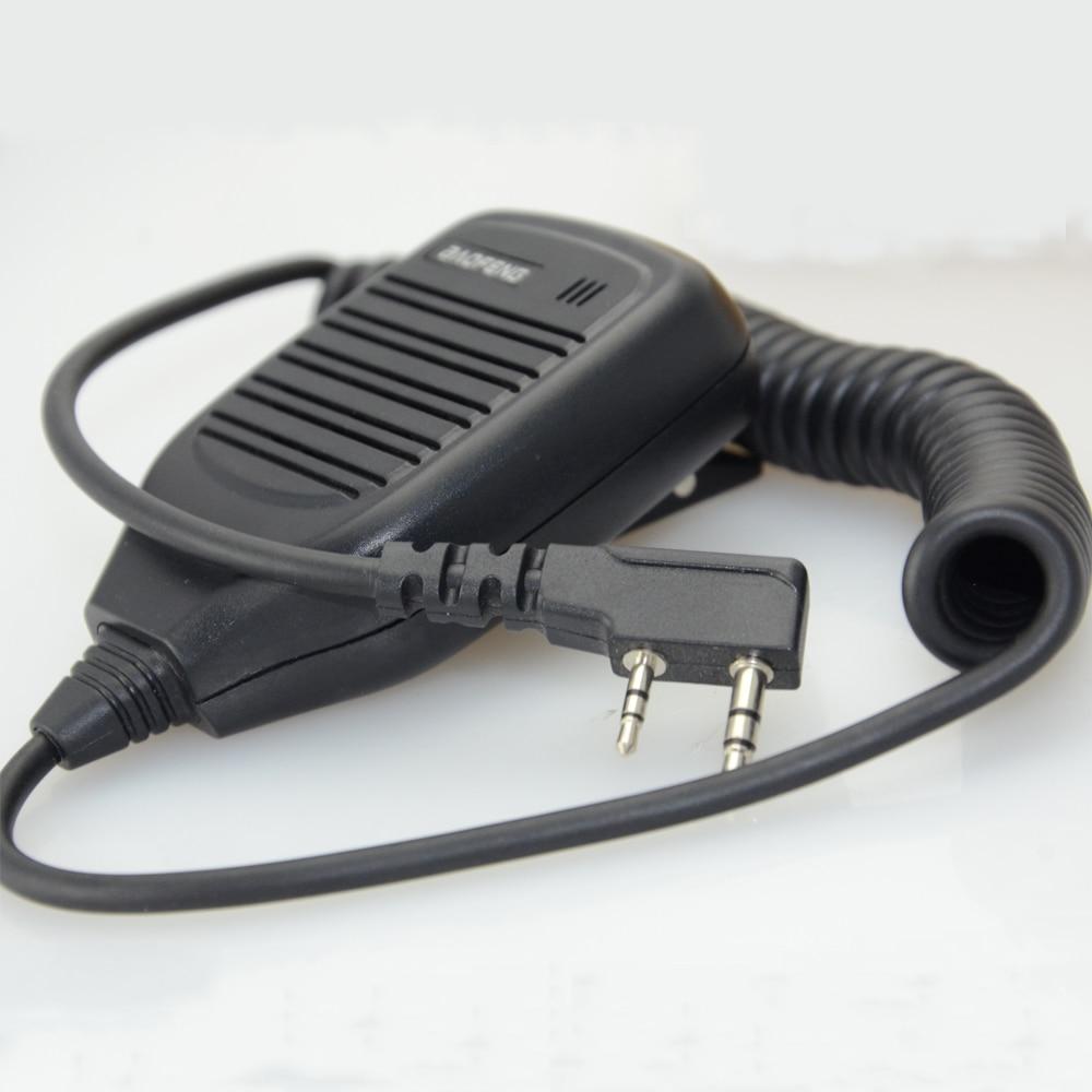2PCS/LOT Baofeng 2 Pin BF-S112 Two Way Walkie Talkie Radio Handheld Speaker Mic UV-5R 888S