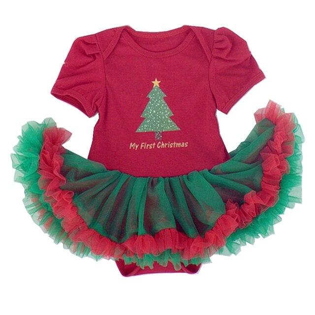 vert arbre de no l pour les enfants partie robes robe bebe dentelle tutu rouge robe de no l. Black Bedroom Furniture Sets. Home Design Ideas