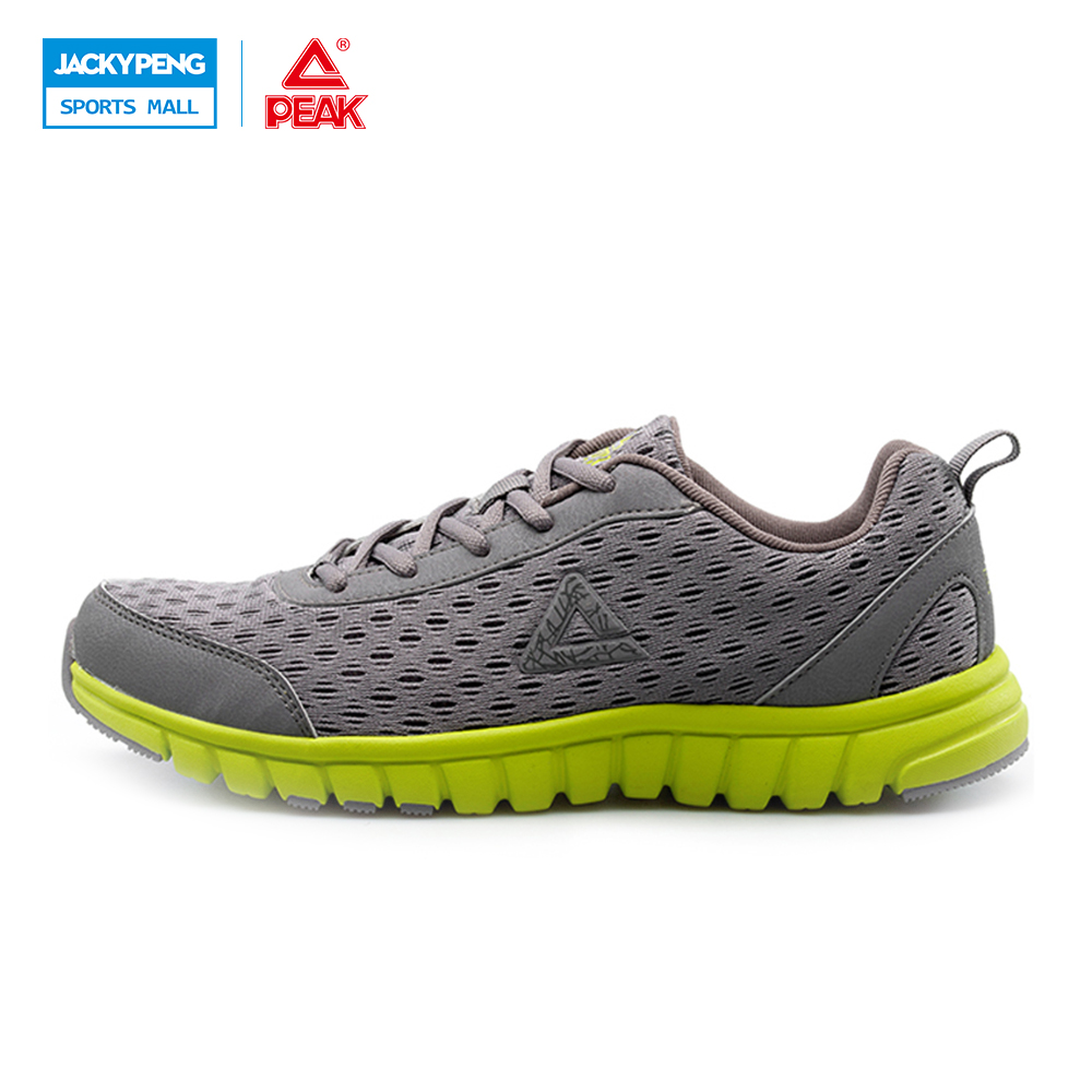 PEAK Outdoor Synthet Leather+3 Layers Mesh  breathable men athlet shoes sport shoes sneakers Running shoes
