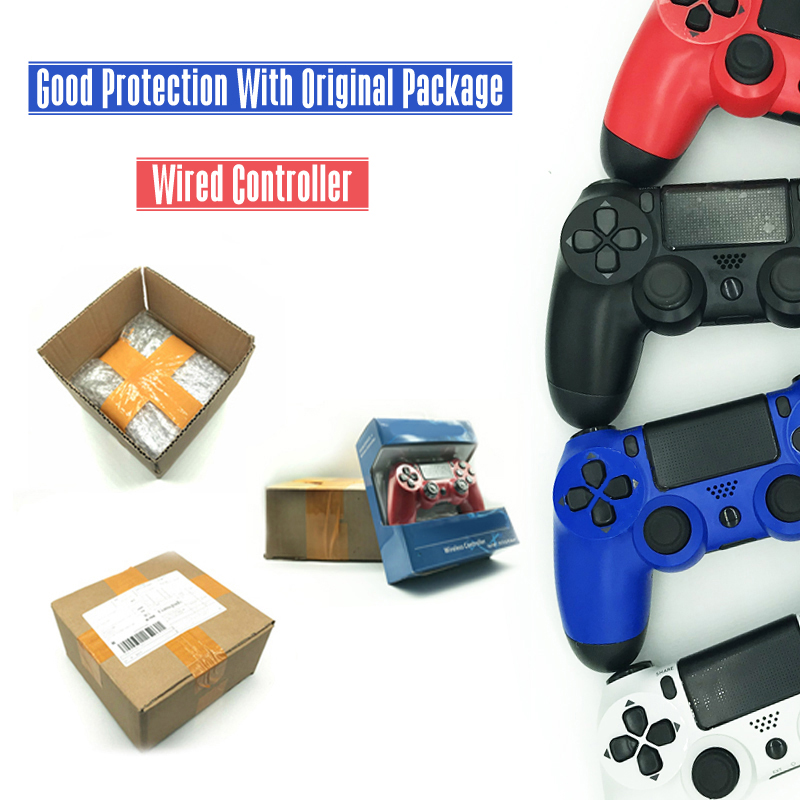 цены For PS4 Controller Wired Gamepad For Playstation 4 for Dualshock 4 Joystick Gamepads For PS4 Console USB Gamepads Controller