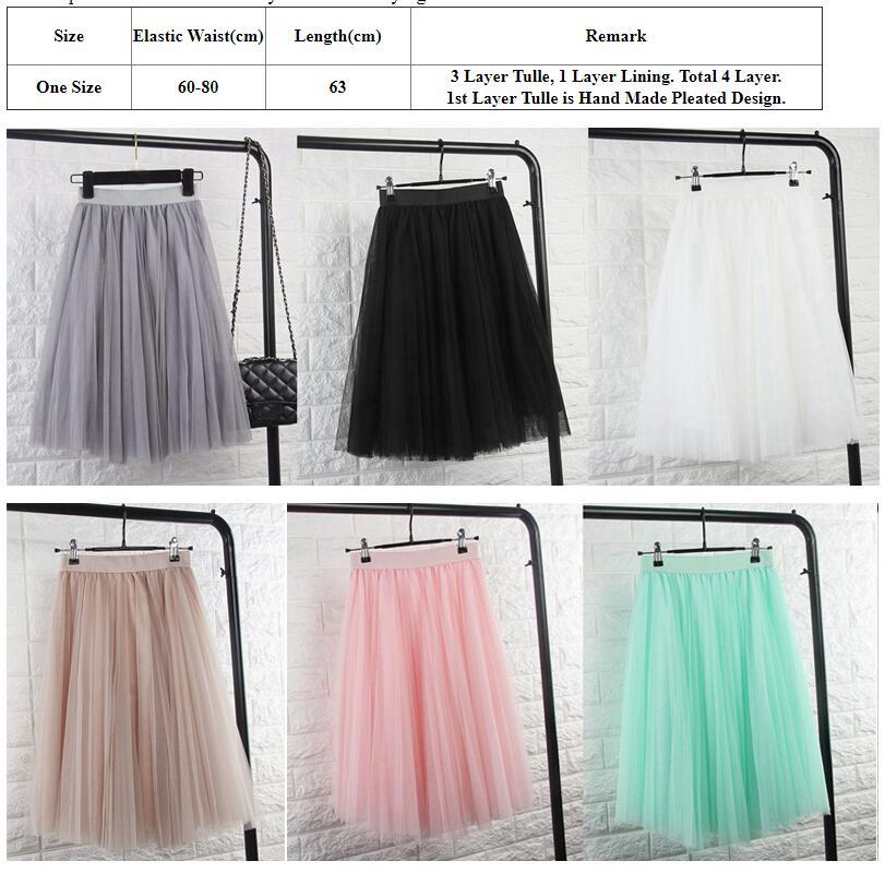 Тюль юбки женская черный серый белый взрослых тюль юбка эластичный высокой талией плиссе midi юбка 2016