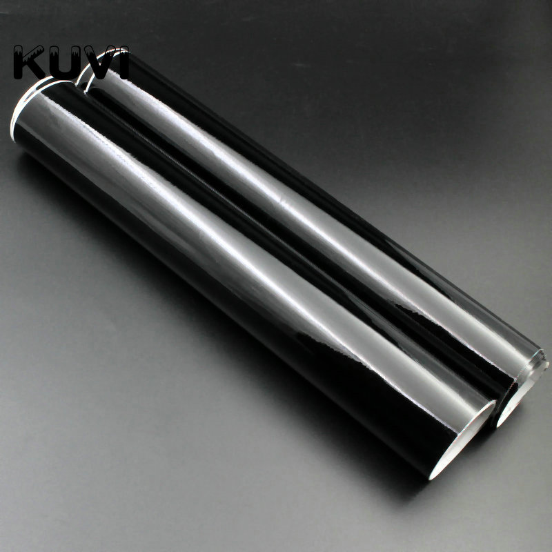 High Quality Glossy Vinyl Film Gloss Black Wrap Bubble Free Car Wrapping For Motorcycle Car Stickers Accessories Styling