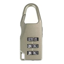 Travel 3Digit Code Safe Combination Luggage Lock Padlock Suitcase (Beige)