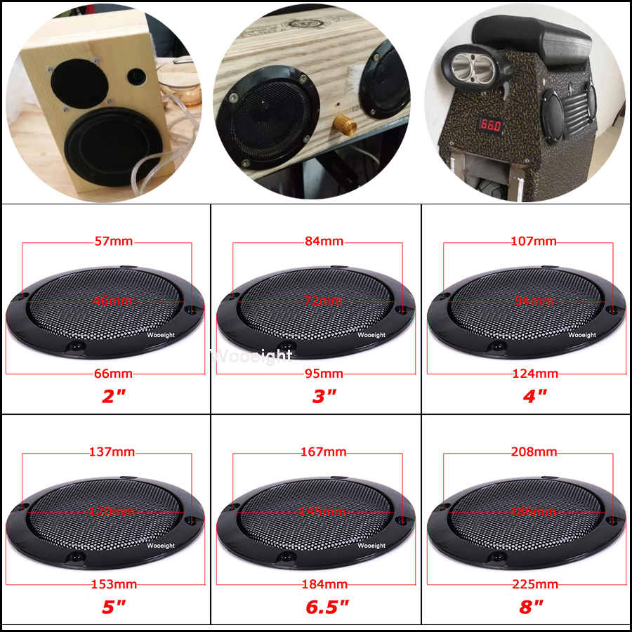 8 x Sub Woofer Speaker Grill Clips Subwoofer Clamps Grille Free Shipping
