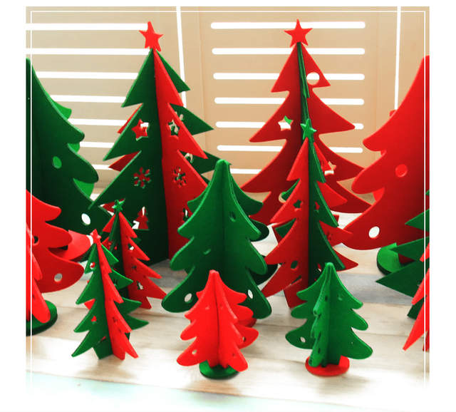 Diy Christmas Tree Table Desk Little