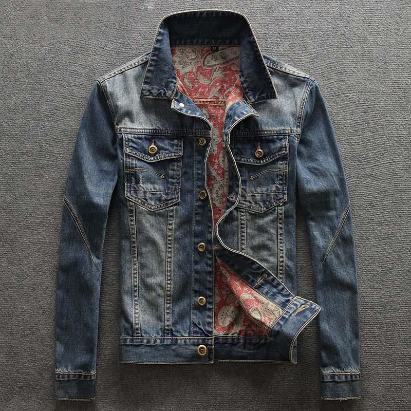 Homme Décontracté Simple Boutonnage Veste En Jean Hommes Jeans Vestes et Manteaux De Haute Qualité Grande Taille Veste