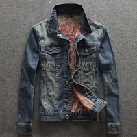 Men S Casual Single Breasted Denim Jacket Mens Jeans Jackets And Coats High Quality Plus Size