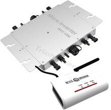 1200 Вт сетевой инвертор на солнечных батарейках микро инвертор с беспроводной связью + модем WVC, MPPT чистая синусоида 22-50 в DC