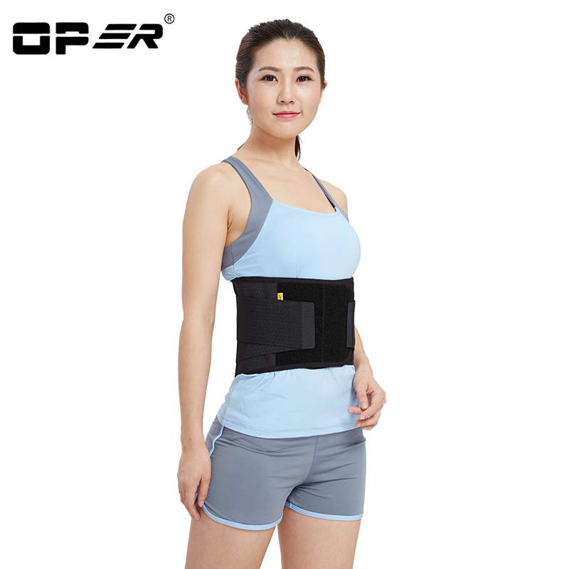 OPER Elstiac Waist Support Back Belt Pressurized Lumbar Brace Posture Corrector Adjustable Slimming Belt Waist Breathable unisex adjustable posture corrector corst back men brace shoulder belt lumbar support straight correction for health care