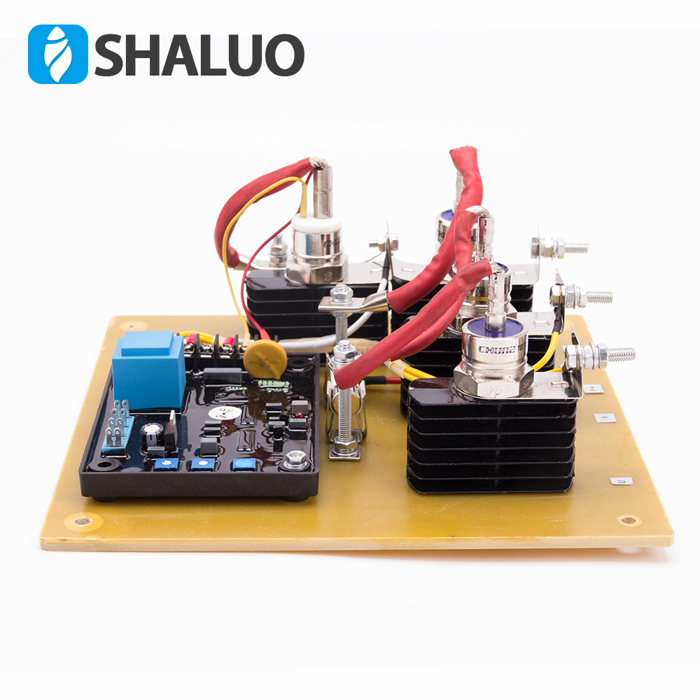 GAVR 50A voltage regulator with the rectifier and diode for carbon brush diesel generator SAVRH-50A 380V