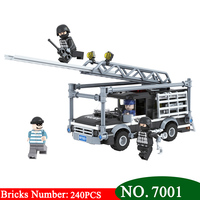 Winner 7001 240Psc City Special Police Series Building Blocks Military Educational DIY Children Brick Toys for Children