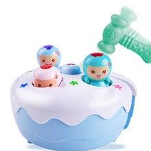 Портативная игровая машина для хомяка, игрушка для детей, звуковой светильник, фруктовый торт, музыкальная игра, развивающая игрушка для раннего возраста