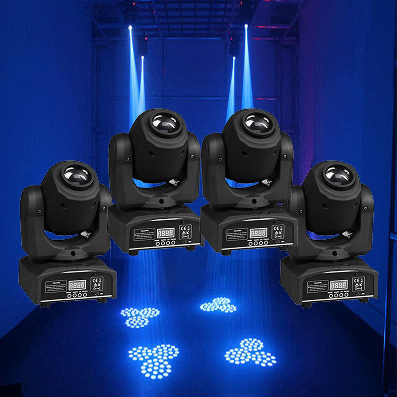 4 Pieces 30W Spot Gobo Moving Head Light Led Moving Head Spot Stage Lighting Disco Light Professional Stage & DJ DMX Stage Light(China)