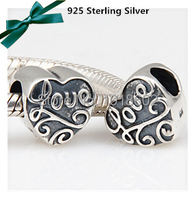 1pc Lot Father S Day Gift Heart LOVE Charms Classic Silver Beads Fits European Pandora Bracelet
