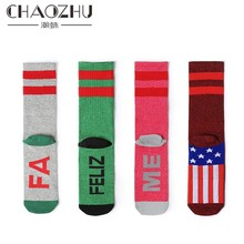 CHAOZHU humor words Print bad ass/kiss me Socks Autumn Winter White Cotton Grunge Style Girls Cool Casuals awesome