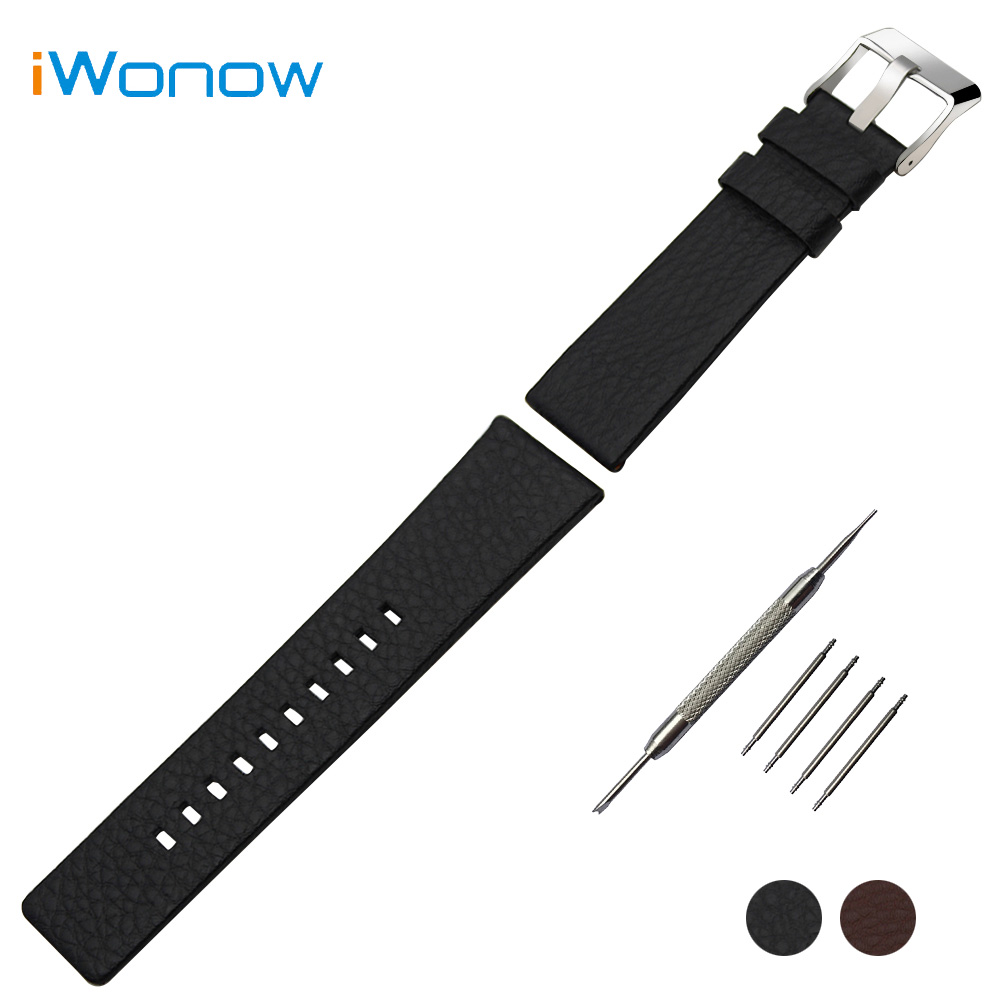 Top Layer Calf Genuine Leather Watchband 20mm 24mm 26mm 27mm 28mm Replacement Watch Band Wrist Strap Steel Clasp Bracelet +Tool high quality genuine calf hide leather for diesel watch strap band for dz7257 dz7345 27mm 28mm 30mm 32mm 34mm man watchband tool