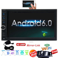 Android 6.0 Car autoradio 2 Din Stereo in Dash Touch screen GPS Navigation Support Wifi Bluetooth/RDS/SD/USB/OBD2/DVR/Apple Play