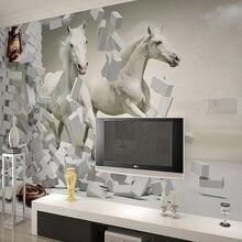 White Horse Custom 3D Photo Wallpaper
