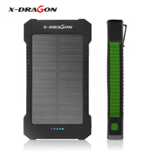X-Dragan Solar Battery Charger Dual USB Power Bank Outdoor Panel with LED Light