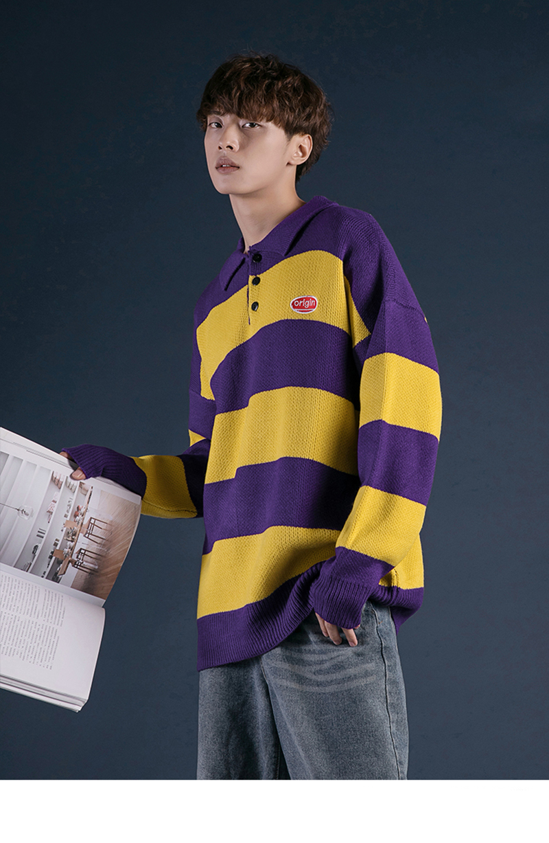 Korean Turtleneck Sweater Men Pullover Streetwear (6)