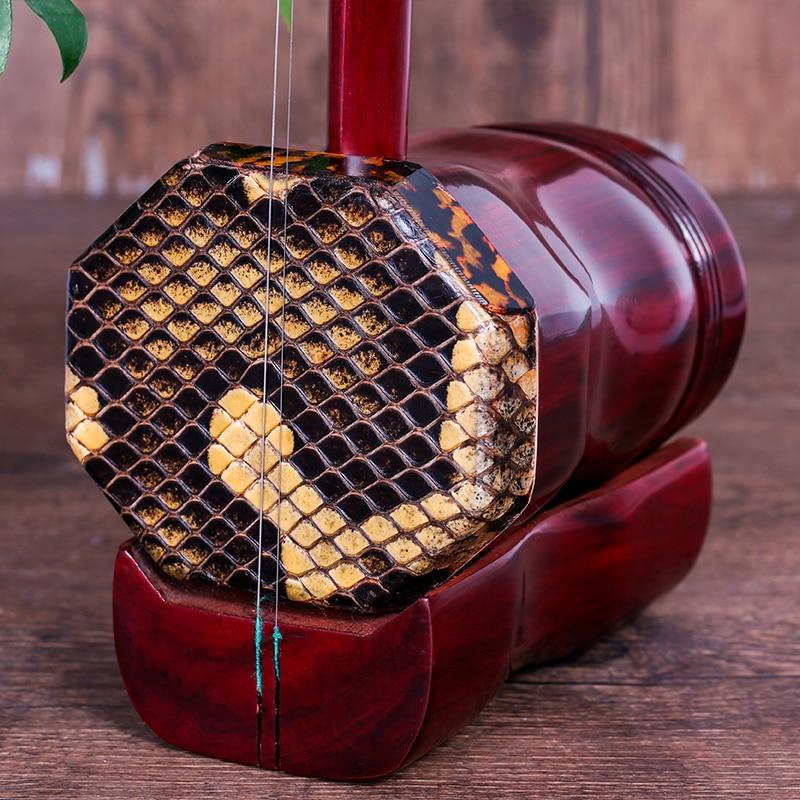 Bois de santal rouge octogonale Erhu Africain lobulaire bois de santal rouge/palissandre erhu