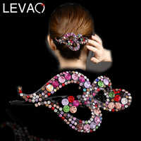 LEVAO Love Sharp Korea Fashion Girls Crystal Hair Claws Rhinestone Hair Clip for Women Hair Accessories Crab for Barrettes