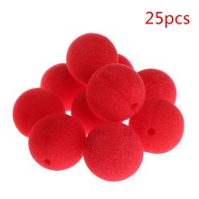25Pcs Sponge Ball Clown Nose For Christmas Halloween Costume Party Decoration New Hot(China)