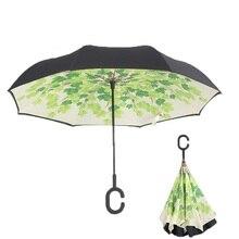 Inverted Reverse Umbrella Folding For Double Layer Fashion Unbrella Fabric UV Protection Windproof Rainproof For Women Umbrellas
