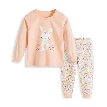 2-6Y Kids Pajamas Sets for Girls 2019 New Boys Cotton Cute Print Soft Pyjamas Children`s Long Sleeve Pijama Baby Clothes pajamas