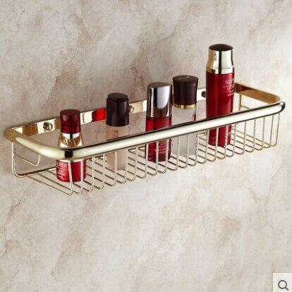 High Quality Wall Mounted Gold Bathroom Soap Dish 45 Cm Bath Shower Shelf Bath Shampoo Holder