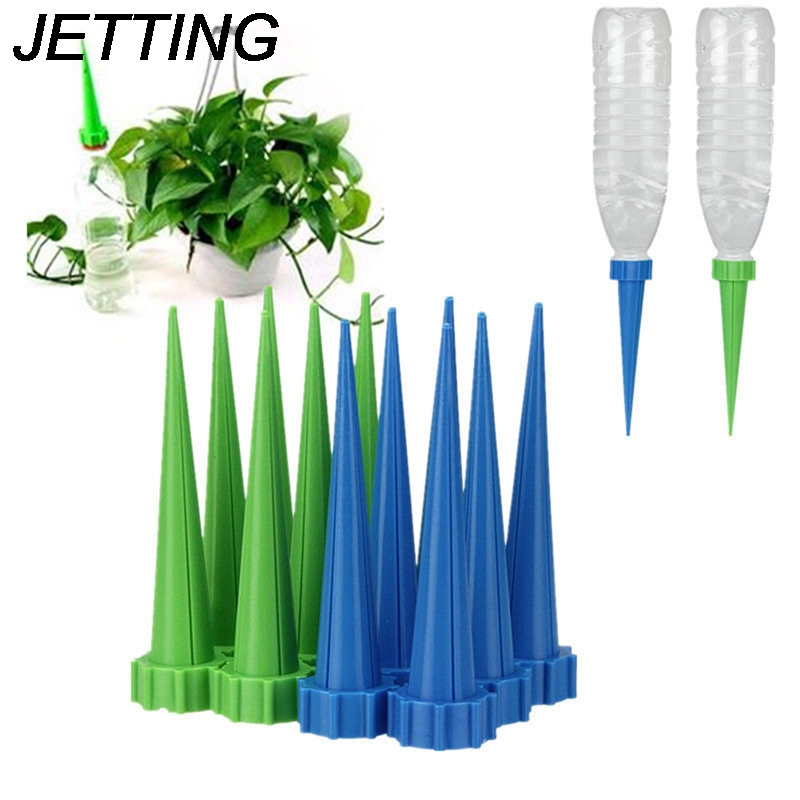 JETTING 4Pcs/lot Automatic Garden Cone Watering Spike Plant Flower Waterers Bottle Irrigation System Random Colors WholesaleJETTING 4Pcs/lot Automatic Garden Cone Watering Spike Plant Flower Waterers Bottle Irrigation System Random Colors Wholesale
