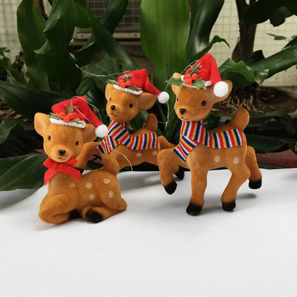 Bonito bonecas veados Árvore De Natal Ano Novo & #039; s Véspera Decorações de Suspensão