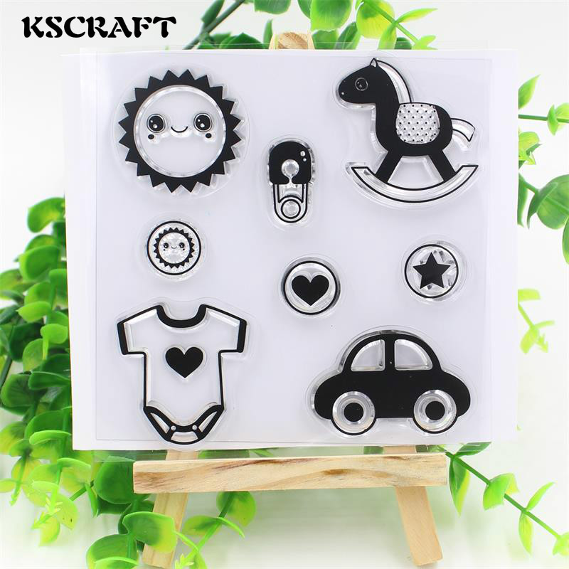 Kscraft Baby Clothes Transparent Clear Silicone Stampseal For Diy