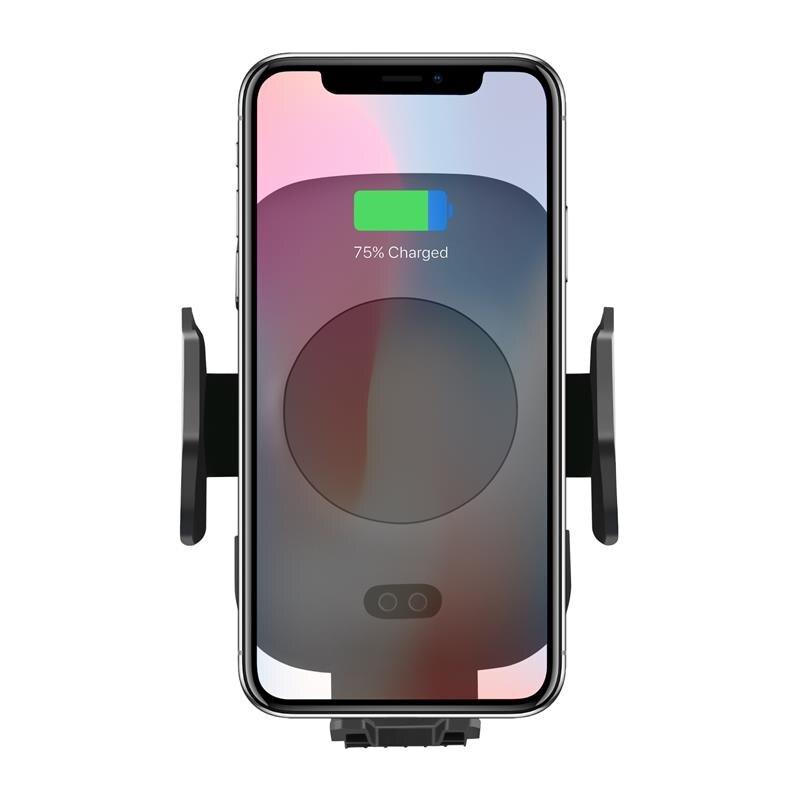 Cargador inalámbrico de coche rápido y automático inducción Car Mount Air Vent horquilla del sostenedor del teléfono, para el iPhone 8/8 Plus/X Samsung S9 S8 S7