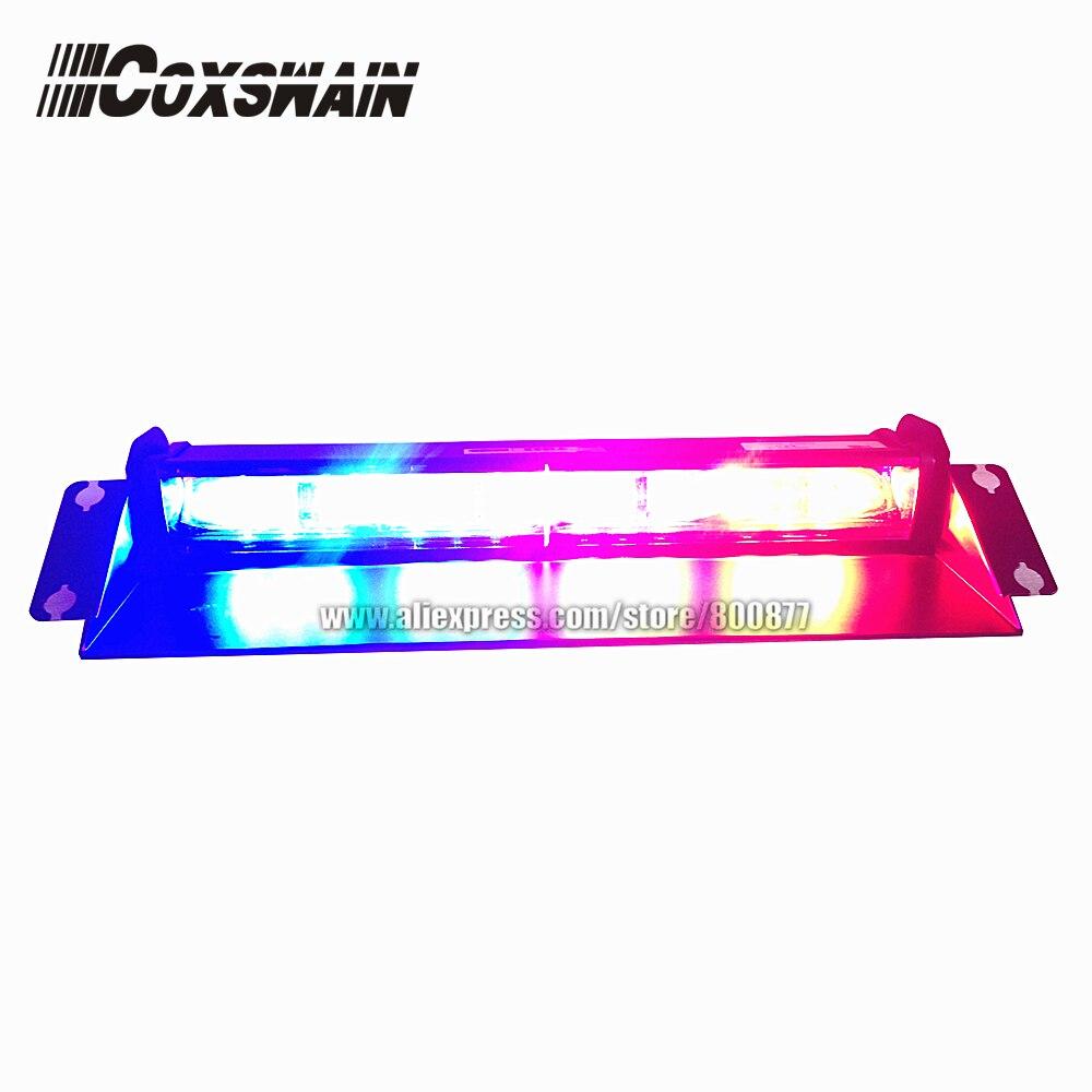 6E2B High brightness LED windshield dash light for car, LED visor light, police warning light, 3W each LED, 22 flash patterns запонка arcadio rossi запонки со смолой 2 b 1026 20 e