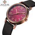 2016 Top Brand Julius Womens Watches Vintage Retro Wrist Watch Leather Band Quartz-Watch Female Clock Relojes Mujer Montre Femme