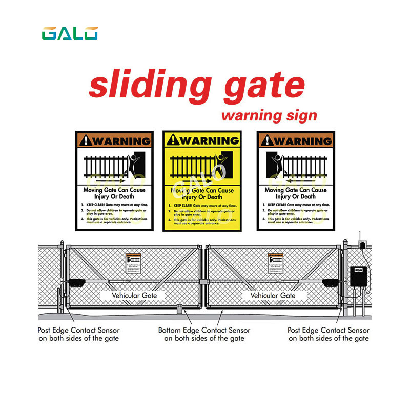 GALO SLIDING GATE / SWING GATE /BARRIER GATE WARNING SIGN For automatic doors 180 degree barrier gate automatic barrier car park barrier simple machines