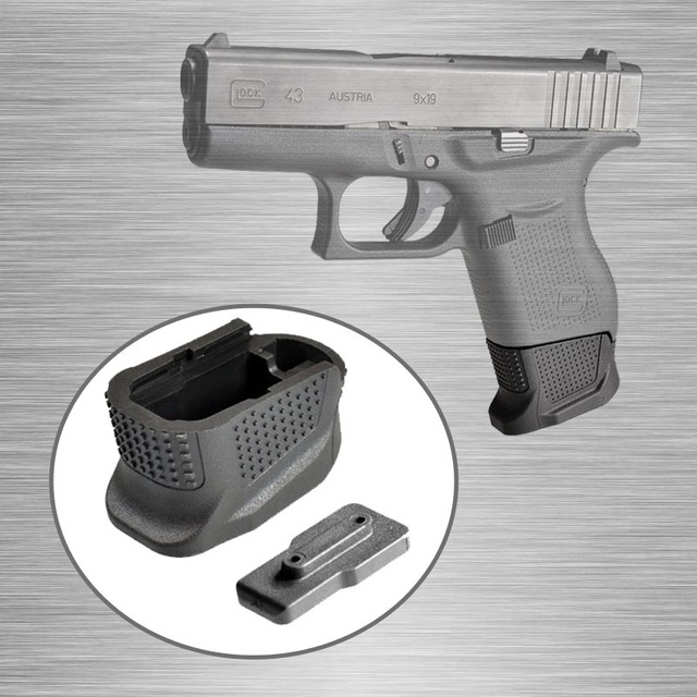 US $8 79 20% OFF|+2 Rounds Glock 43 Magazine Extension Plus 2 Mag Extension  Glock 43 Enhanced Magazine Base Plate for Glock G43-in Hunting Gun