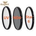 KnightX Full ND4 UV Star 6 Color ND Lens Filter 52mm 58mm ND For Canon T3i T4i T2i 550D 600D 650D 1100D 60D d5200 Camera DSLR