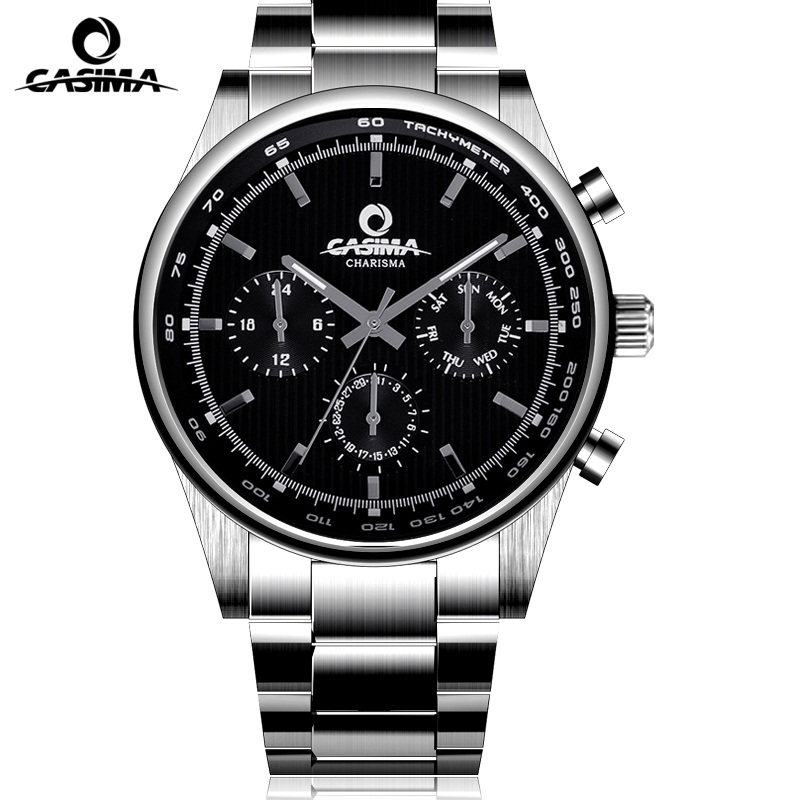 CASIMA Top Brand Luxury Watches Men Classic Business Quartz Wrist Watch Mens erkek kol saati waterproof 100m Clock 2017 mens business watches top brand luxury chronograph watch sport quartz wrist watch men clock male relogio erkek kol saati