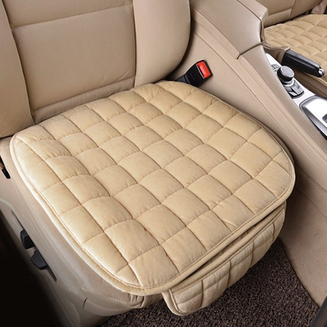 1Pc Winter Plush Anti Slip Car Seat Cover Lattice Cushion Chair Pad Newest Supplies