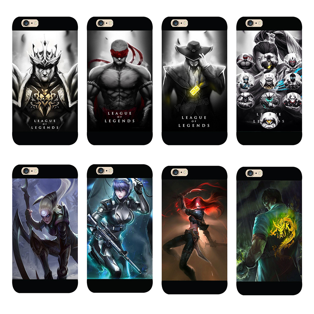 Cool League Of Legends Champions Style Back Case For Iphone 6 6 Plus Lol Game Hard Plastic Cover Phone Cases For 5c 5s 5 4s 4 Case Faceplate Phone Amplifierphone Case Crystal Aliexpress