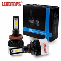 LEADTOPS bulb auto Headlight H7 H4 LED H1 H3 H8 H11 9005 9006 H13 9004 9007 Led light bulbs Xe Đèn Pha 72 Wát 9000lm 6500 K 12 v FA